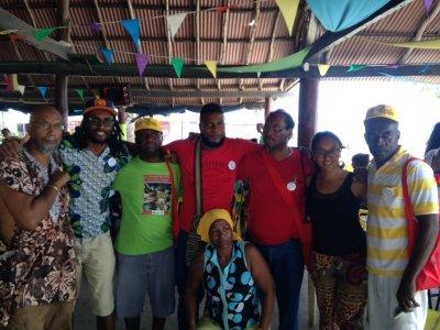 Ajamu with PNC organizers