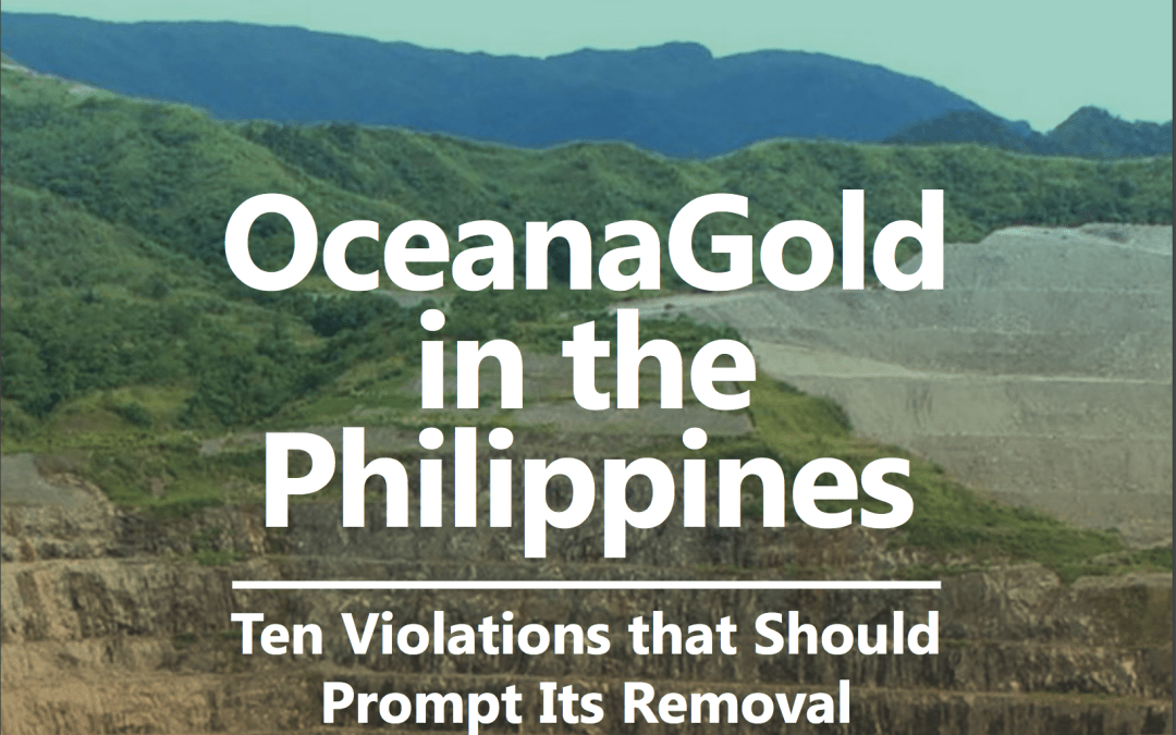 Report: OceanaGold in the Philippines