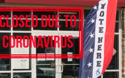 a voting booth closed because of the coronavirus