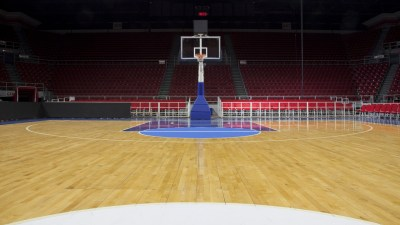 an empty sports arena