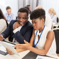 African American Entrepreneurs at a Conference