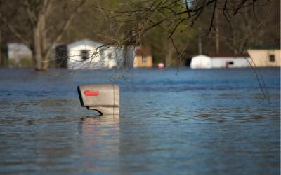 USPS mailbox under water