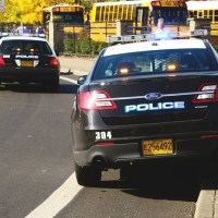 school resource officer police car at school in oregon