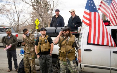Yellowstone militia members protest government shutdown in April 2020