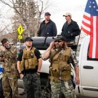 Yellowstone militia members protest government shutdown in April 2020