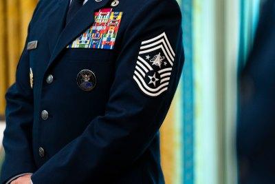 presentation of U.S. space force flag - biden - trump - pentagon