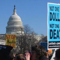 anti-war protest in washington d.c.