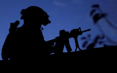 A member of International Security Assistance Force - Afghanistan participates in an operation in the Wardak province of Afghanistan Oct. 4, 2009.