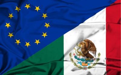 mexico flag and european union flag