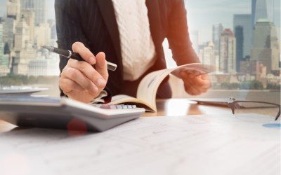 financial advisor calculating funds