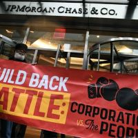peoples action event on corporate taxes