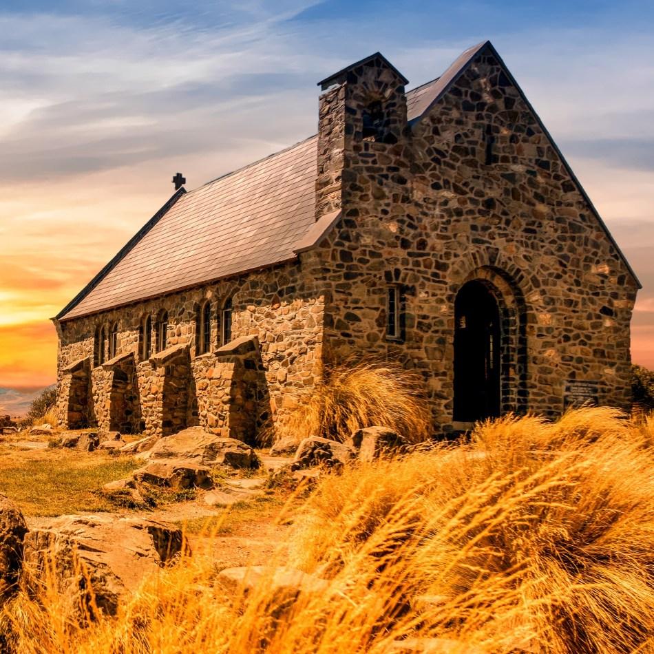 Church, countryside