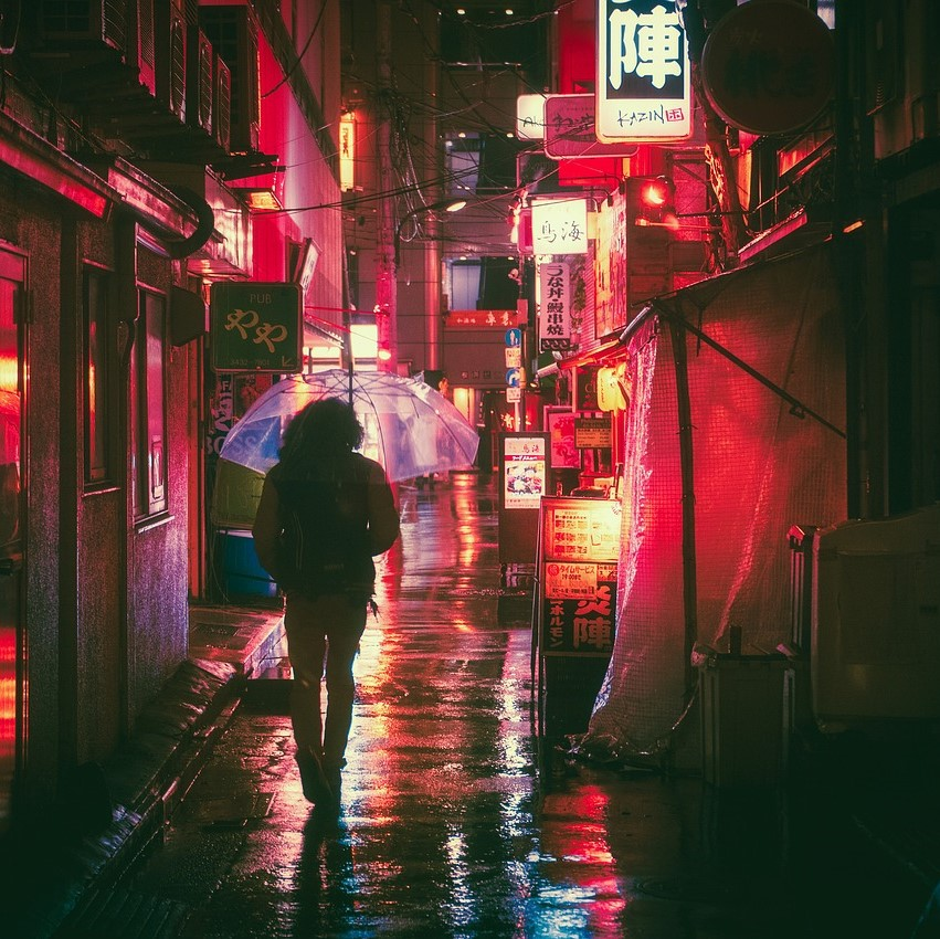 Red light district, neon