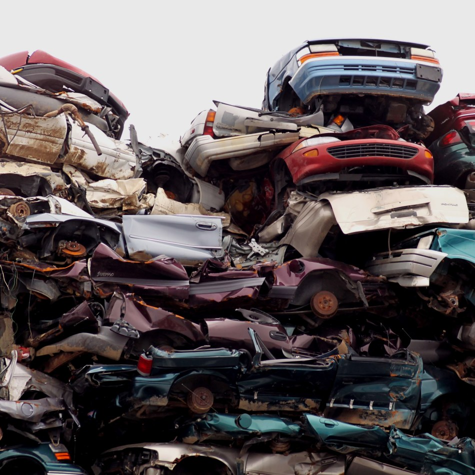 Negligence law, stack of cars