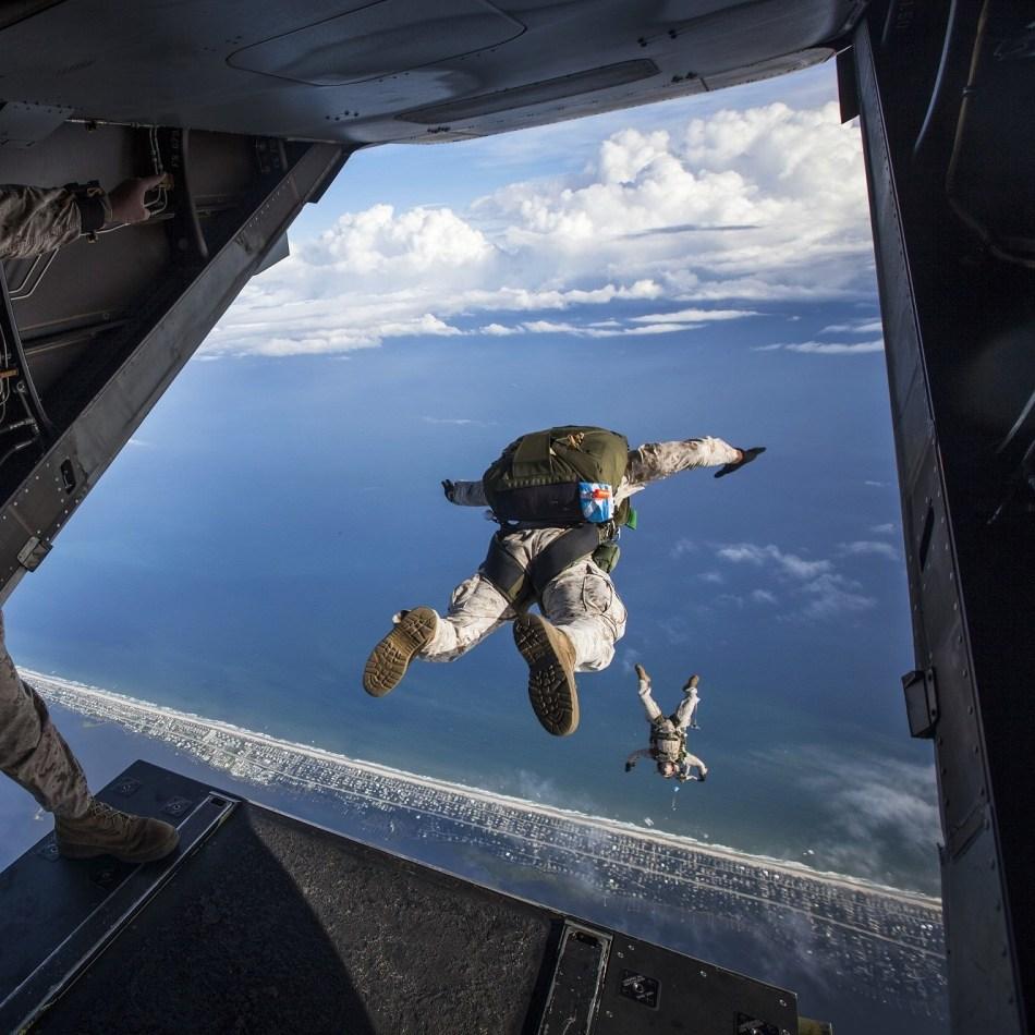 Risk sky diving
