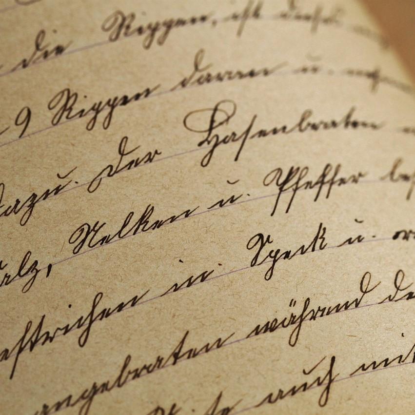 False hand writing, letter
