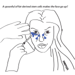 Comic on stem cell facelifts