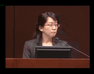 Masayo Takahashi, a global stem cell pioneer from Japan,  at ISSCR.