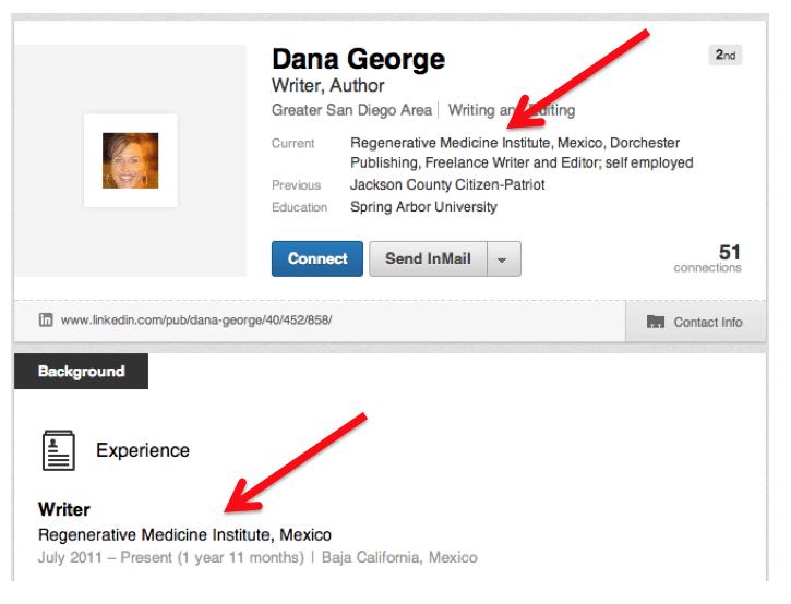 Dana George stem cells stem cell social media.