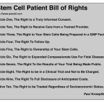 Book Excerpt: Stem Cell Patients Bill of Rights