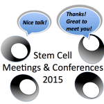 Super stem cells meetings, & courses remaining in 2015