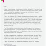 Landmark decision: FDA Approves 23andMe Genetic Test