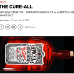 Popular Science stem cell clinic article itself raising some red flags