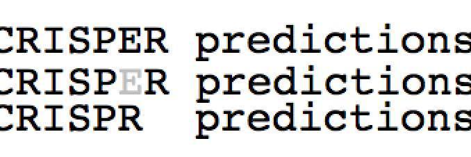 CRISPR predictions
