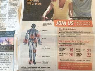stem cell ad SacBee