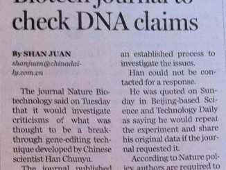 NgAgo China newspaper