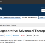 FDA Regenerative Advanced Therapy Designation Rules Are Up in Response to Cures Act
