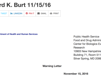 Richard Burt Warning Letter