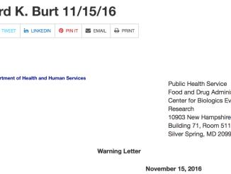 Richard Burt Warning Letter