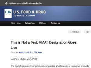 FDA RMAT