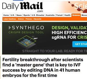 Daily Mail Science Hype CRISPR