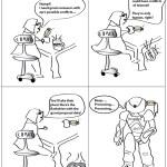 Robots versus scientists