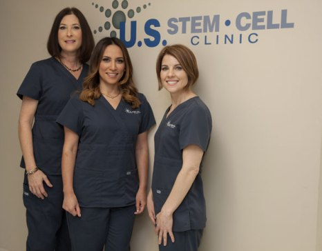 U.S. Stem Cell Clinic staff including Comella on the right.