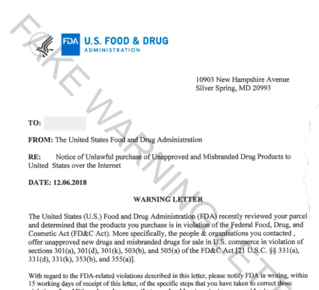 fake-FDA-warning-letter