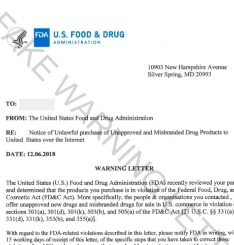 Fake fda warning letter scam the niche fake fda warning letter thecheapjerseys Images