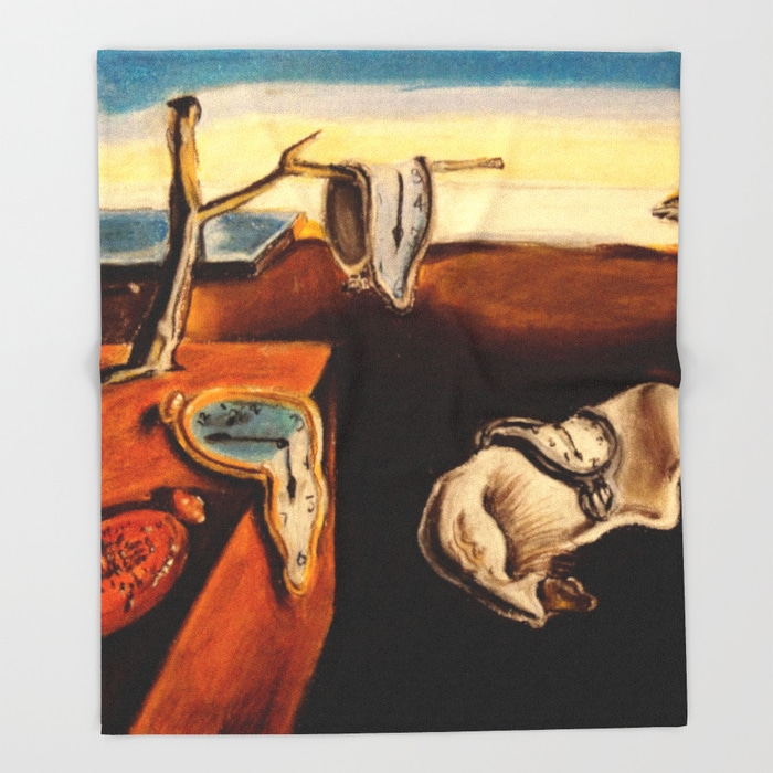 salvador-dali-the-persistence-of-memory-throw-blankets