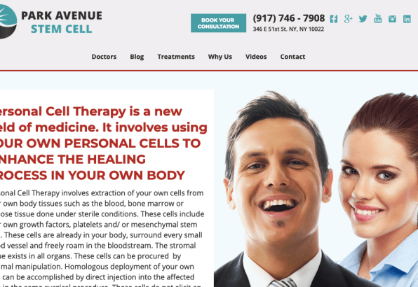 New York stem cell clinic sued by AG