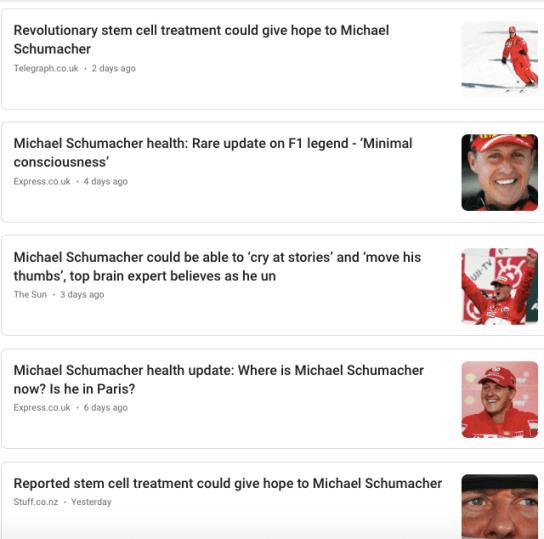 Michael Schumacher stem cell hype