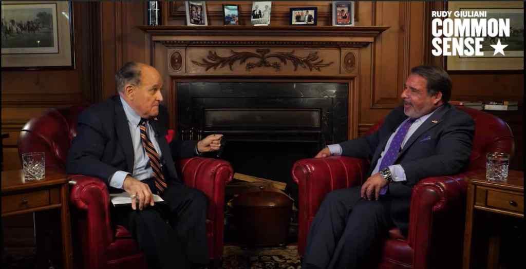 "Robert Hariri talking with Rudy Giuliani on testing ""stem cells"" for COVID19."