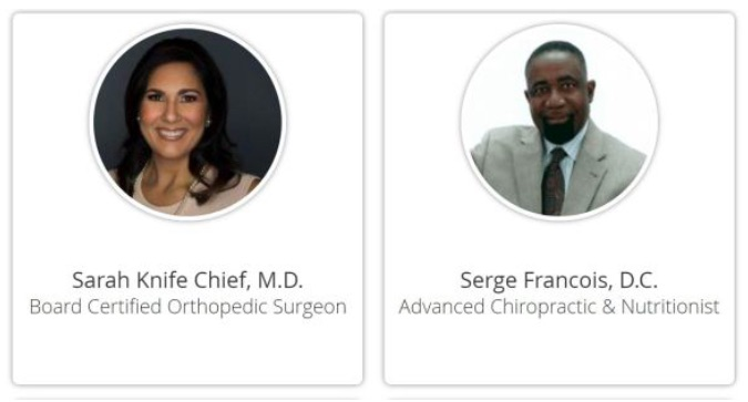 Sarah Knife Chief, M.D., and chiropractor Serge Francois, D.C. From KNWA, stem cell lawsuit Arkansas