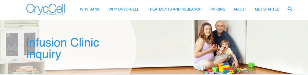 cryo-cell infusion clinic marketing, Duke Cryo-Cell