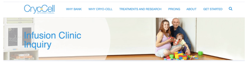 cryo cell infusion clinic marketing