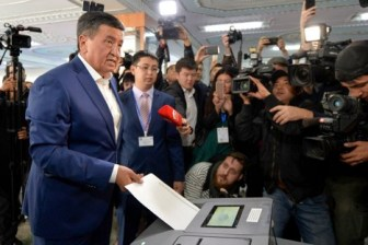 Kyrgystan president democratic transition