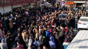China - Protests against migrant