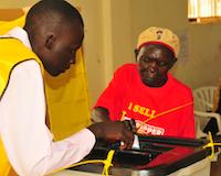 South Sudanese expatriate voting in Kampala, Uganda. / Credit: James Siya/IPS