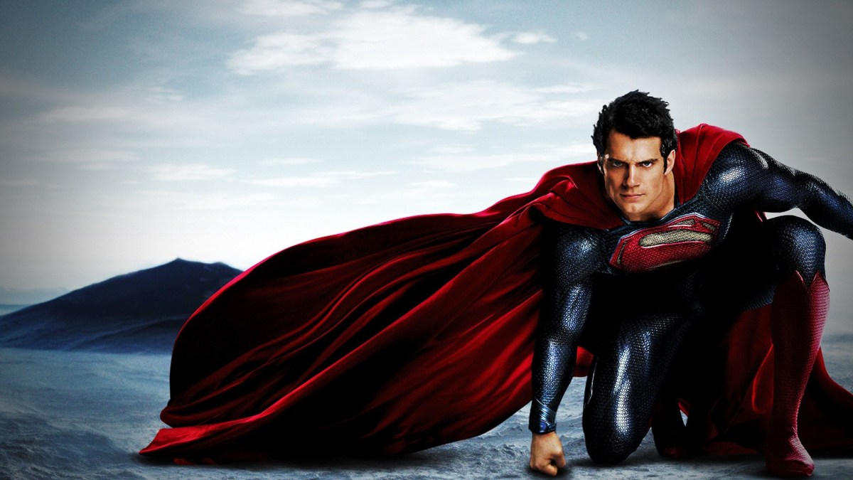 promo picture of superman being all superman